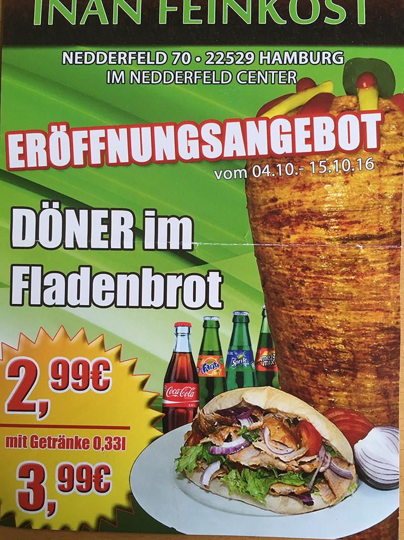 [Lokal HH-Nedderfeld] Döner im Fladenbrot für 2,99€