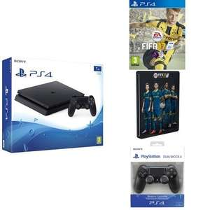 PS4 Konsole Slim 1TB+ Fifa 17 Steelbook Edition+ 2. Dual Shock 4 Controller (neue Revision) für 356,45€ @Amazon.UK