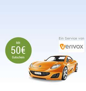 Kfz-Tarifvergleich über Verivox mit einem 50€ Tankgutschein von GMX