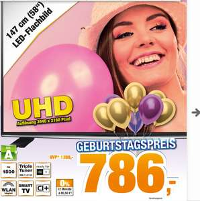 [Lokal Detmold Expert] LG 58UH635V 146 cm (58 Zoll) Fernseher (Ultra HD, Triple Tuner, Smart TV) 786€