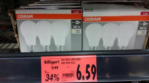(Lokal Kaufland Delmenhorst) 3x Osram E27 LED 806lm nur 6,59€