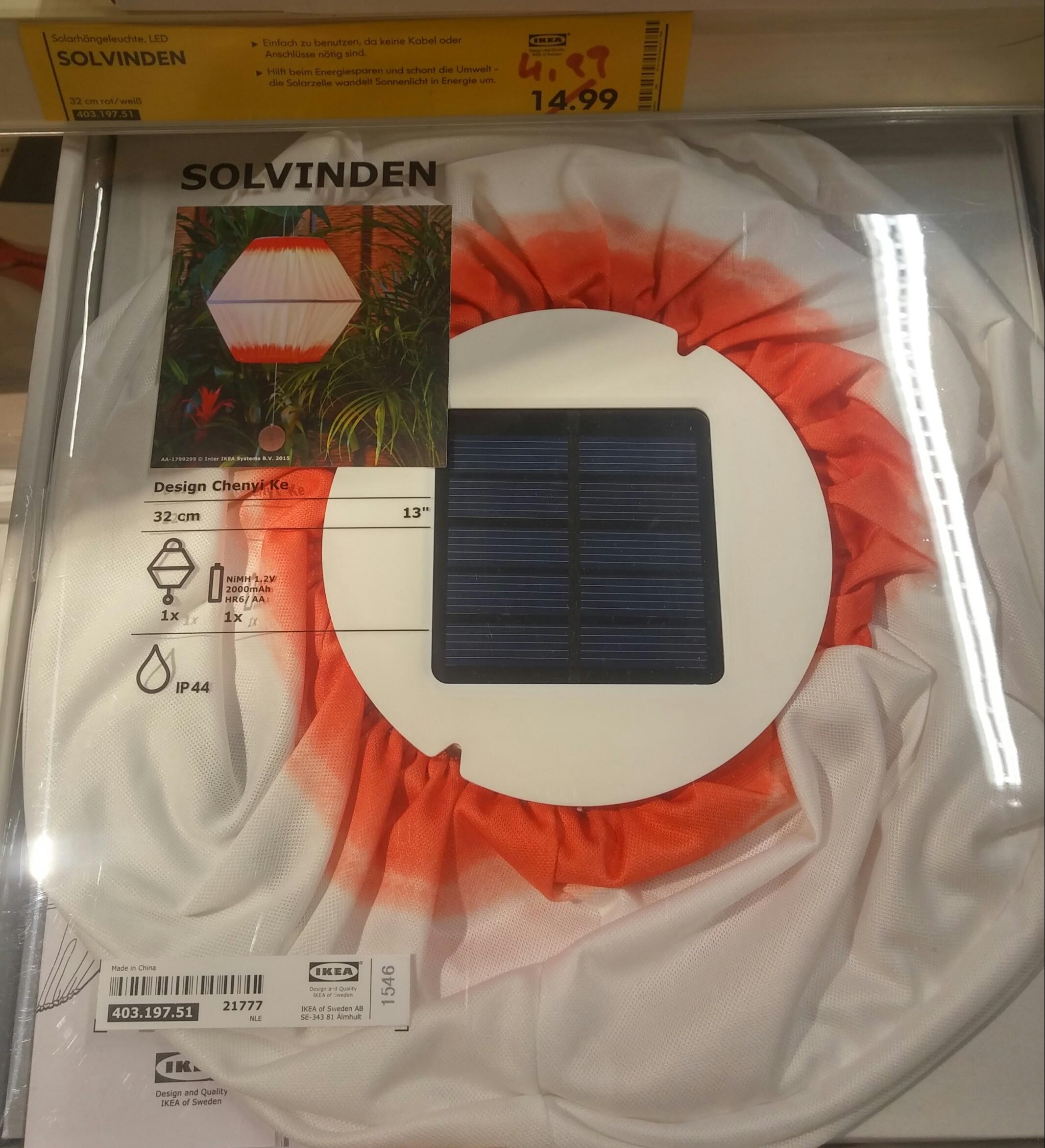 IKEA Solvinden LED Solarleuchte [Lokal Köln Godorf]