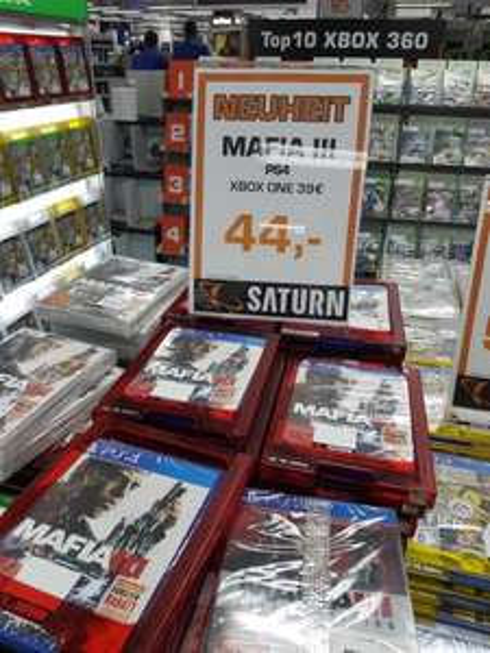 Mafia 3    Xbox One 39 € + PS4 44 € -  Saturn Köln Hohe Straße