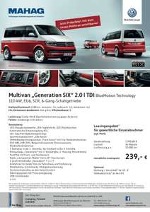 "Volkswagen Multivan T6 ""Generation Six"" Leasing (privat&gewerblich)"