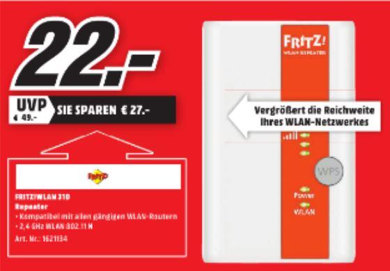 [LOKAL MediaMarkt Bad Kreuznach] AVM FRITZ! 310 WLAN Repeater für 22€