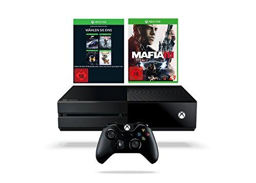 Xbox One 1TB inkl. Mafia III + Wähle dein Spiel Code (Rise of the Tomb Raider, Forza 6, Halo: MCC oder Rare Replay)