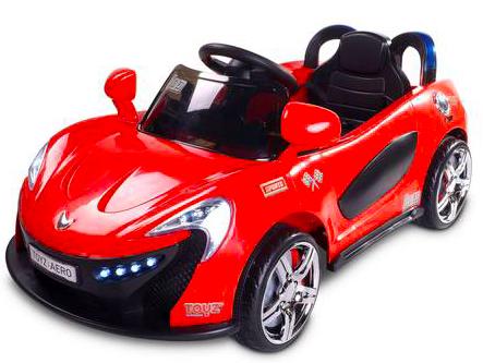 Kinder Elektroauto Caretero Toyz Aero Roadster Cabrio mit 2 Motoren, MP3, LED-Lichtern für 99,95€ bei [Allyouneed]