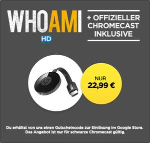 "Google Chromecast 2 + ""WHOAMI"" oder ""The Equalizer"" für 22,99 € *UPDATE*"