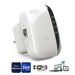 [Zapals] WiFi Extender Wireless Booster AP 300Mbps 802.11n/g/b Wifi Repeater für 8,90€