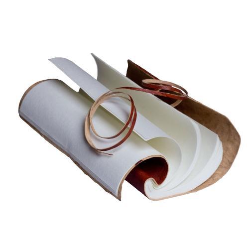 Luxus Notizbuch aus handgeschöpften Baumwollseiten und Leder Cover