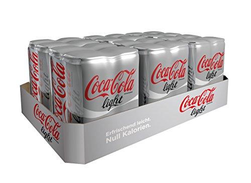 24x 0,33 l Dosen Cola Light ab 5,91 € (0,25 € pro Dose) + Pfand [Amazon.de SparAbo]