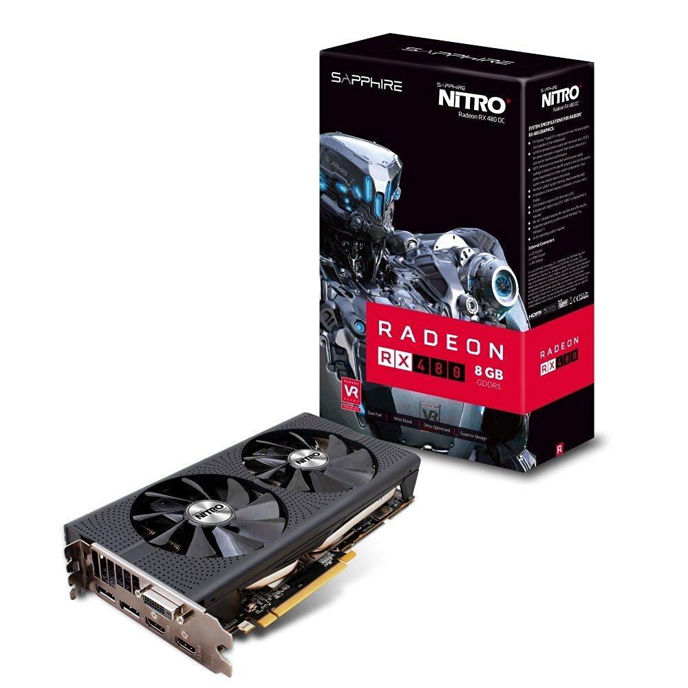 Sapphire Nitro+ Radeon RX 480 mit 8GB GDDR5 für 253,97€ [Amazon.fr]