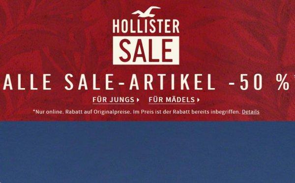 50% Hollister Sale + kostenloser Versand + 10% Newsletter Gutschein