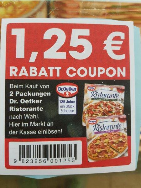 Dr.Oetker Ristorante Rabatt Coupon 1,25€