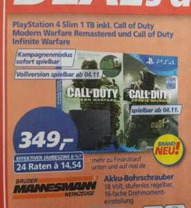 (Real) PS4 Slim 1 TB inkl. Call of Duty Moderne Remastered und Infinite Warfare