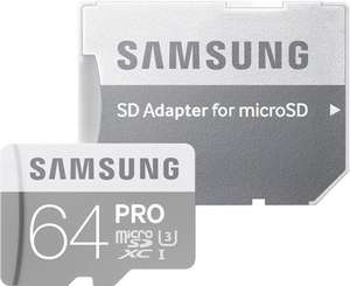 Samsung microSDXC Pro 64GB Class 10 / U3 (R.: 90 MB/s & W.: 80 MB/s) für 22,99€ versandkostenfrei [Saturn]