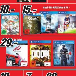 [MM Bayreuth] PS4 oder XBOX ONE Fallout 4, Star Wars Battlefront und Fifa 16 je 15€