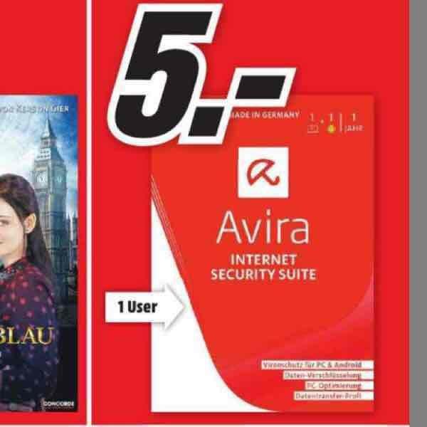 [MM Bayreuth] Avira Internet Security Suite 2016-1 PC Lizenz + 1 Android Lizenz
