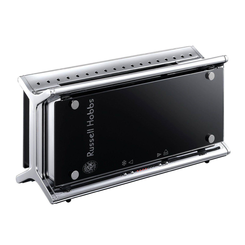 Russell Hobbs 20370-56 Black Glass 1080W Langschlitz Toaster 7 Stufen