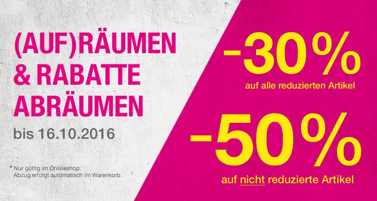[Sportarena.de] -50% auf nicht reduzierte Artikel, -30% auf reduzierte Artikel (z.B. Nike Air Max Tavas für 60€) bis 16.10.2016