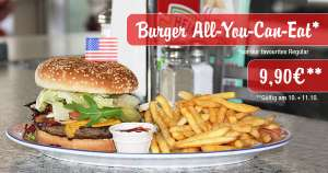 Burger - All You Can Eat - nur 9,90 € bei Miss Pepper am 10. und 11. Oktober