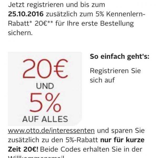 OTTO 20 Euro und 5% auf ALLES [Nur Neukunden] ZB FIFA 17 für 38 Euro