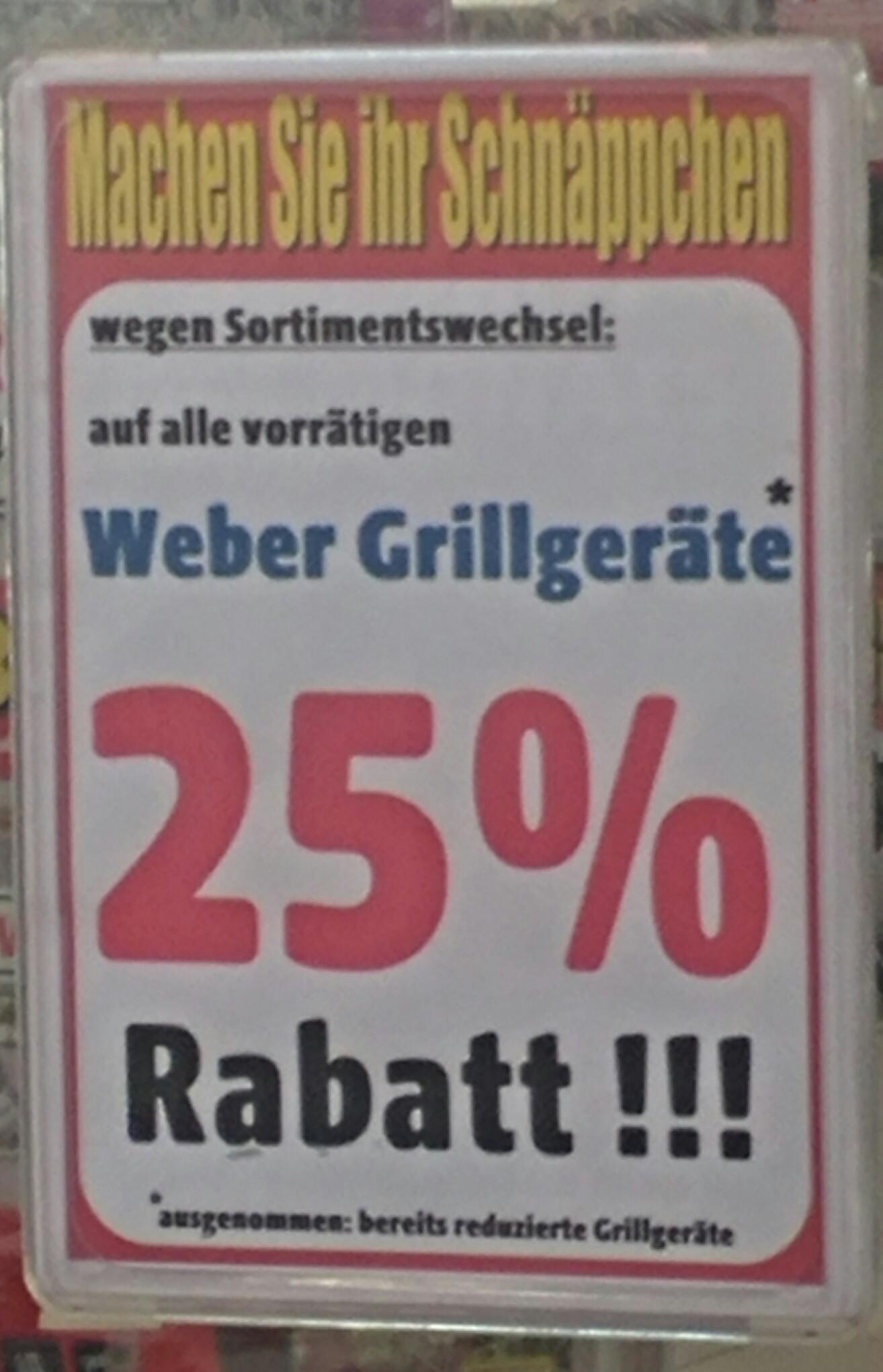 [lokal] -25% auf alle Weber-Grills - z.B. Weber Spirit E-310 Classic Black für € 499,- [Austellungsstück]