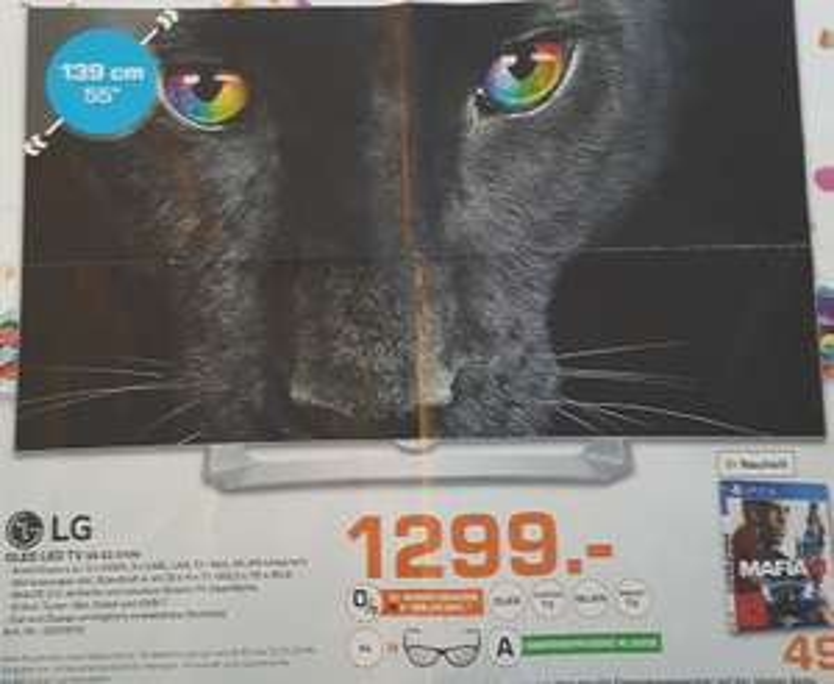 08.10 - 12.10. LG OLED TV 55 EG 9109 für 1.299 € Saturn Nürnberg