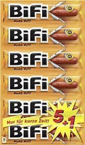 6 x 25g-Pack Bifi Mini-Salami nur 1,59€ @Rewe
