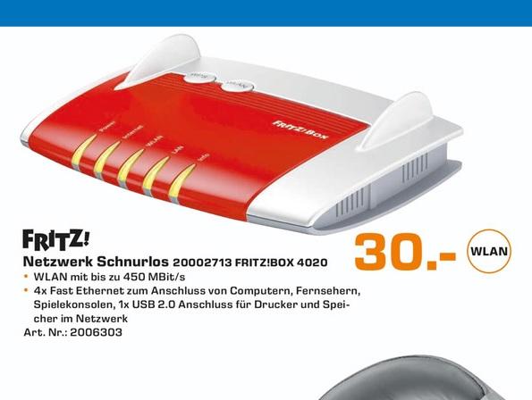 (Lokal) AVM FRITZ!Box 4020 Router für 30€ @ Saturn Aachen
