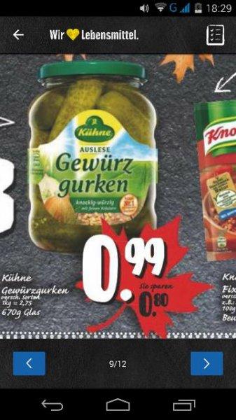 """EDEKA """"KAPPE"""" ( Minden/Hannover) 2x Kühne Gewürzgurken 98 Cent ( Coupon)"""