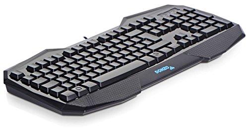 Amazon: DONZO SI-859 Gaming Tastatur (deutsches Tastaturlayout, QWERTZ, LED Beleuchtung, USB) schwarz @19,95 Euer inkl. Versand (Prime)