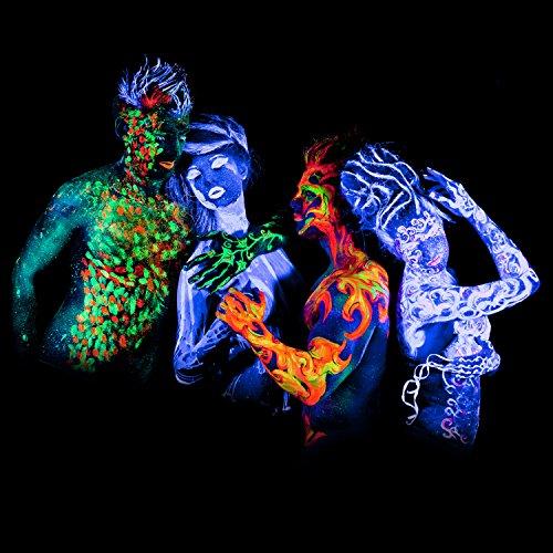 Entdecke deinen Fetisch: UV-Neon-Körperfarbe (8 Stck.) @Amazon