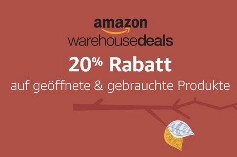 Amazon Warehouse Deals -20% auf bestimmte Produkte verlängert bis 29.10.2016
