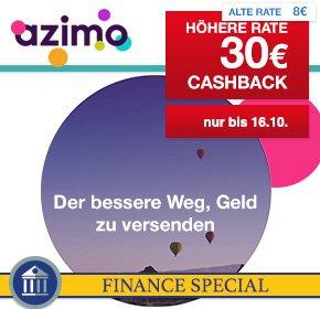 (Shoop) Azimo: 30€ Caschback auf die Registrierung als Neukunde und die erste Überweisung von 50€