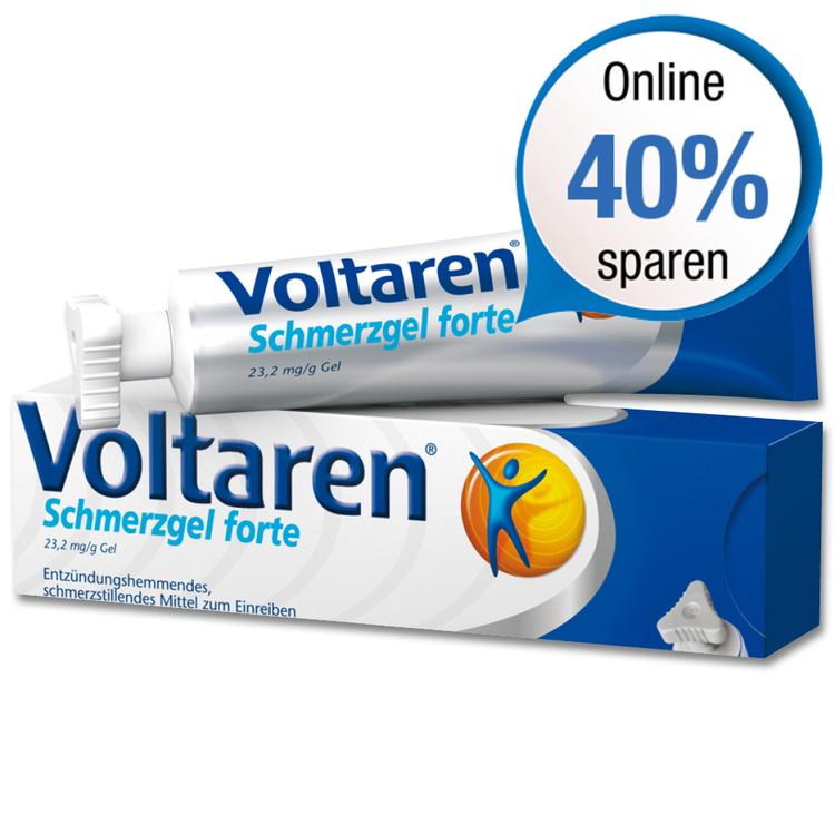 VITALSANA: Voltaren forte Schmerzgel 180g für 15,59 € versandkostenfrei