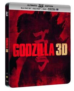 (Amazon.fr) Godzilla - Steelbook Ultimate Edition: 3D Blu-ray + Blu-ray + DVD + Digitale Kopie (OT) für 11,80€