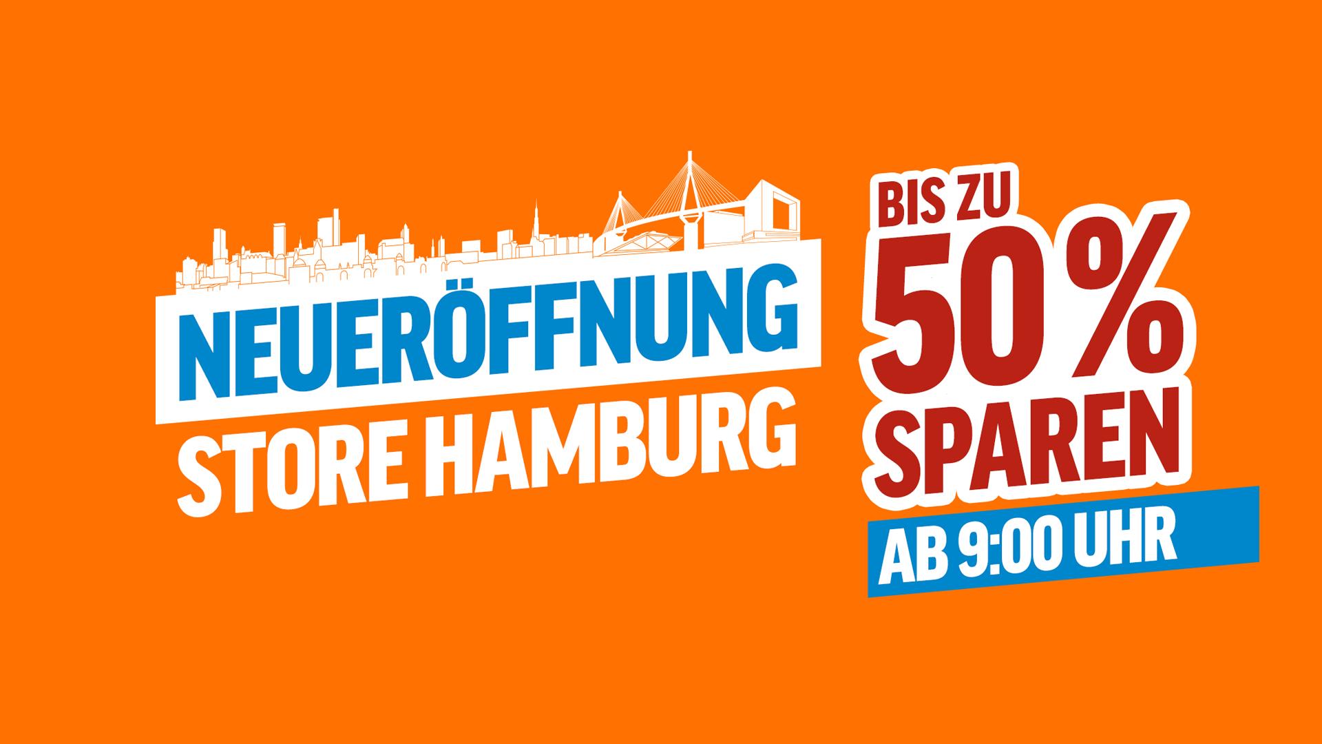 [Lokal] Hamburg NBB Store Neueröffnung -> 50% Rabatt zum Online-Preis! (Sammeldeal)