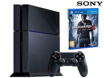 PS4 500GB mit Uncharted 4 für 265,90 Euro