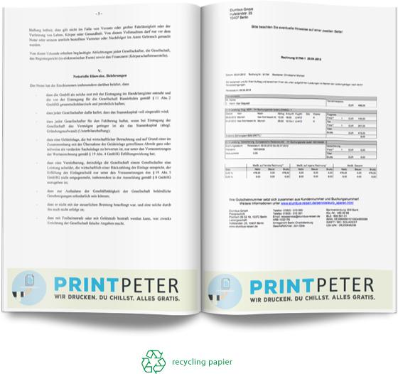 Vorlesungsskripte gratis drucken lassen bei den Diensten PrintPeter und Freiskript