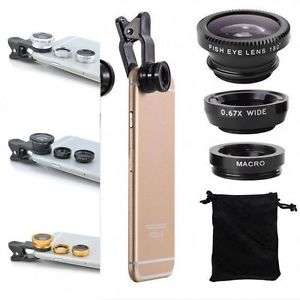 Universal 3 In 1 Wide Angle Macro Quick Camera Lens Kit For Smart Phone --> ab 0,68 € inkl. Versand