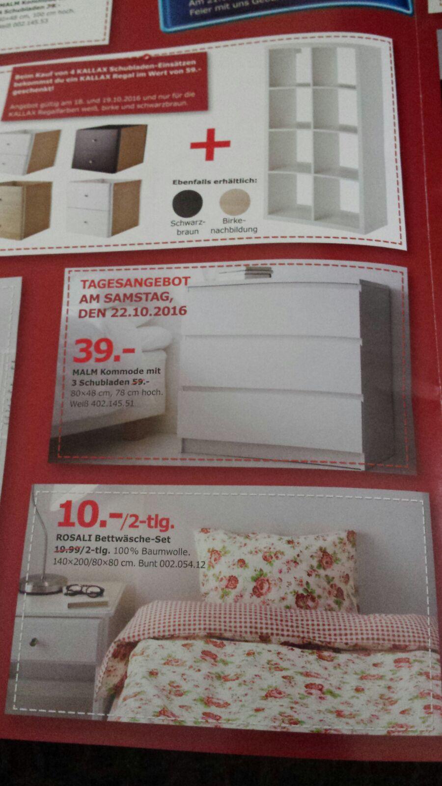 [VORMERKEN Nur Hannover]  22.10: IKEA MALM Kommode für 39,99€