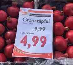12-er Karton Granatäpfel (Hkl. 1) für 4,99€ | Wiva Lebensmittel Bielefeld