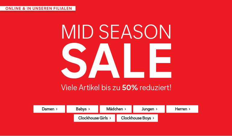Großer Sale mit T-Shirts ab 2,50€, Kleidern ab 4,50€ + 10% Rabatt (MBW: 19€) @C&A