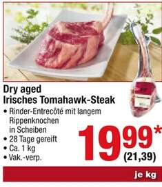 [METRO](Ab 20.10.)Dry Aged Irish Tomahawk je kg 21,39€