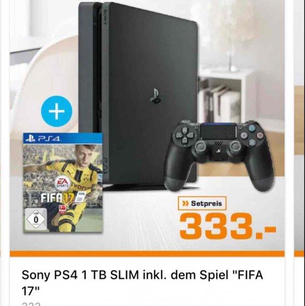 [ Lokal Hamburg ab morgen Abend ] PS4 Slim 1 TB + FIFA 17 für 333,-