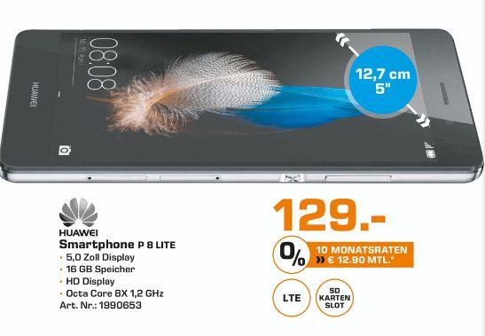 [Lokal Saturn Mülheim] Huawei Ascend P8 Lite Dualsim schwarz für 129,-€ oder  Fritz Box 7490 für 155,-€
