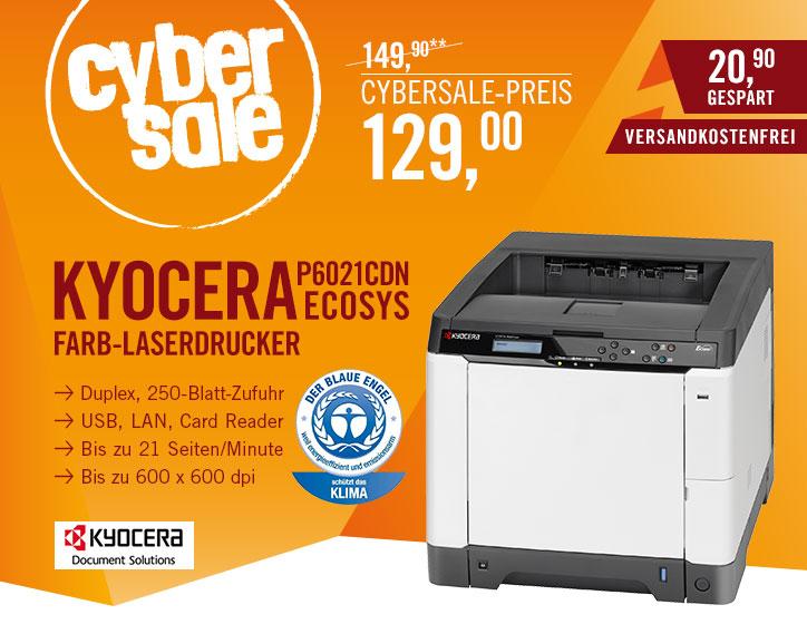 Kyocera ECOSYS P6021cdn für 129€ - Farb-Laserdrucker mit sehr geringen Druckkosten