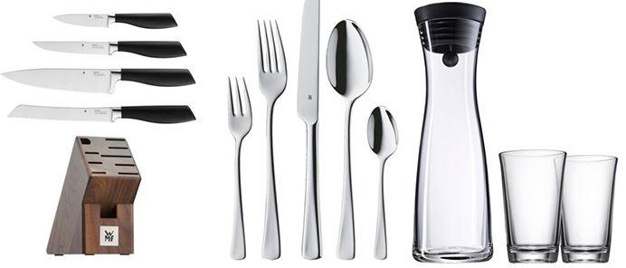 WMF Sale bei eBay + VSK-frei + bis zu 20% Extra-Rabatt – z.B. Messerset 4-teilig + Block für 70€ (statt 99€)