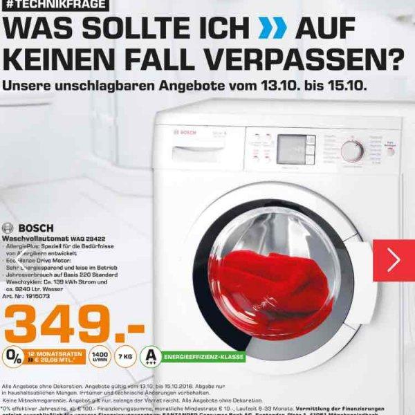 [LOKAL Osnabrück] Bosch WAQ28422 Waschmaschine, 7 kg A+++ 139kwh